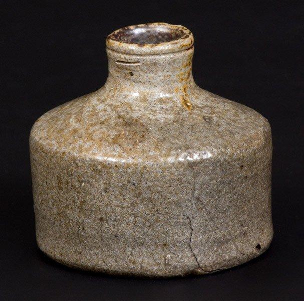 Salt-Glazed Stoneware Inkwell, Northeastern U.S.
