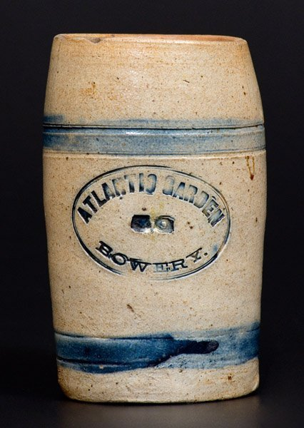 Unusual Stoneware Advertising Mug Impressed ATLANTIC