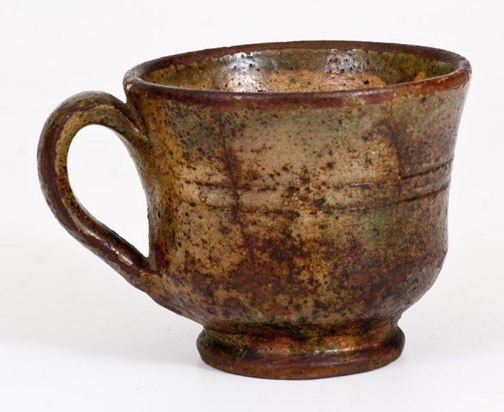 Shenandoah Valley Glazed Redware Mug, att. Anthony W.
