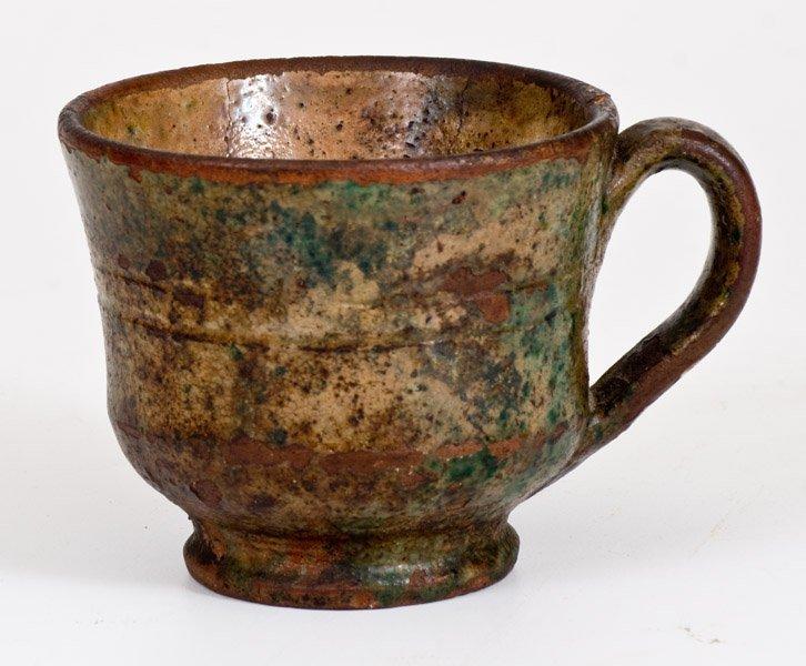 Shenandoah Valley Glazed Redware Mug, att. Anthony W. - 3