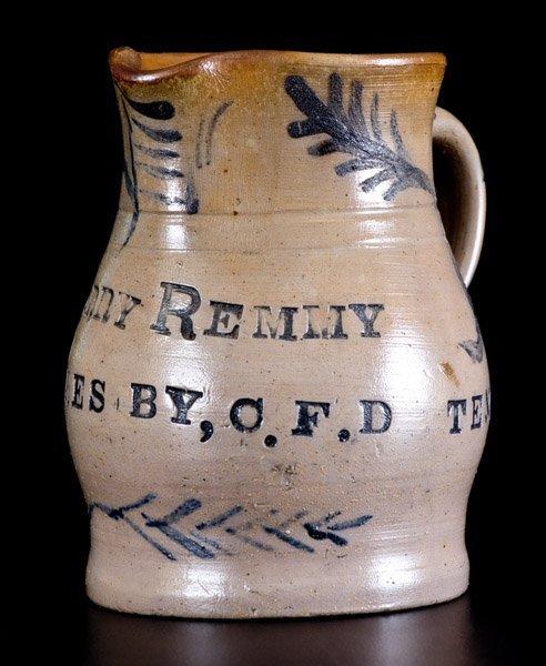 Important Charles Decker (Tennessee) Stoneware Pitcher - 4