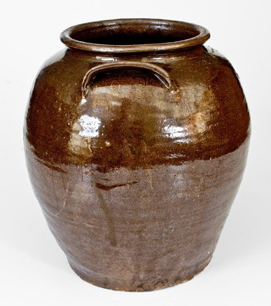 "Outstanding ""Lm"" Stoneware Jar attrib. Dave, Edgefield, - 2"