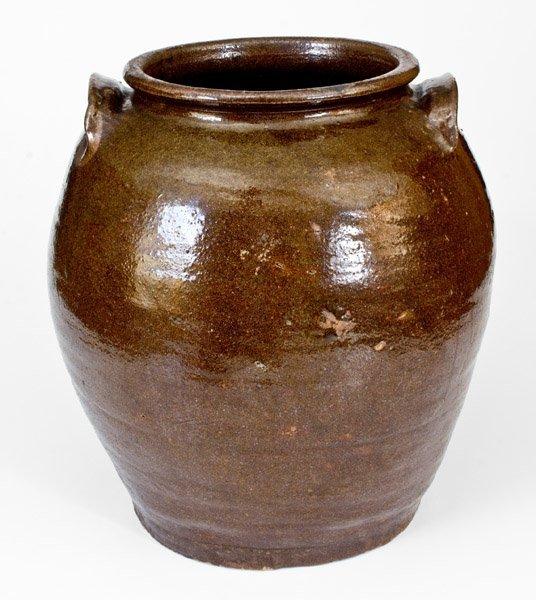 "Outstanding ""Lm"" Stoneware Jar attrib. Dave, Edgefield, - 3"