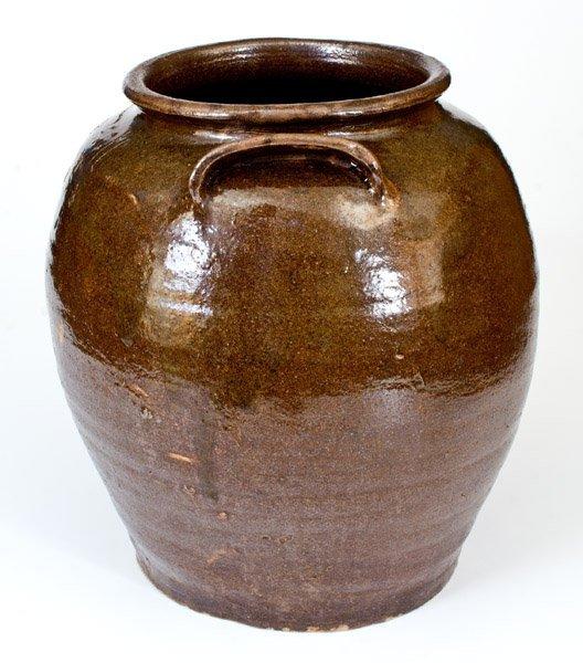 "Outstanding ""Lm"" Stoneware Jar attrib. Dave, Edgefield, - 4"