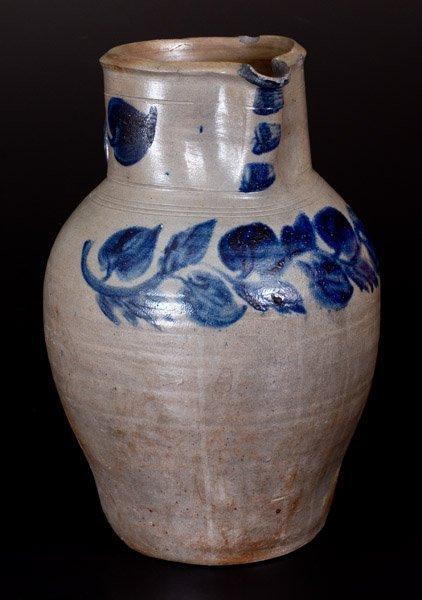 Rare John P. Schermerhorn 3 Gal. Stoneware Pitcher w/ - 2
