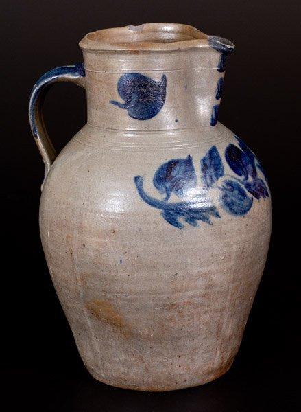 Rare John P. Schermerhorn 3 Gal. Stoneware Pitcher w/ - 3