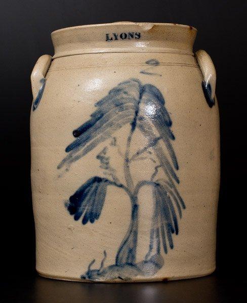 2 Gal. LYONS Stoneware Lidded Jar with Fine Tree