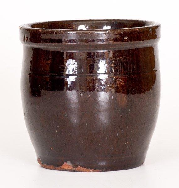 Small JOHN BELL / WAYNESBORO Redware Jar with Manganese - 3