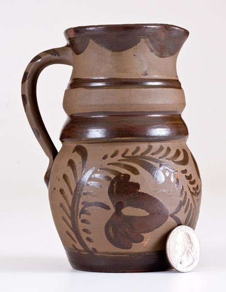 Fine Small-Sized Tanware Pitcher, New Geneva or - 2
