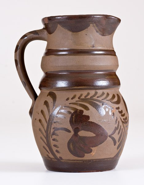 Fine Small-Sized Tanware Pitcher, New Geneva or - 3