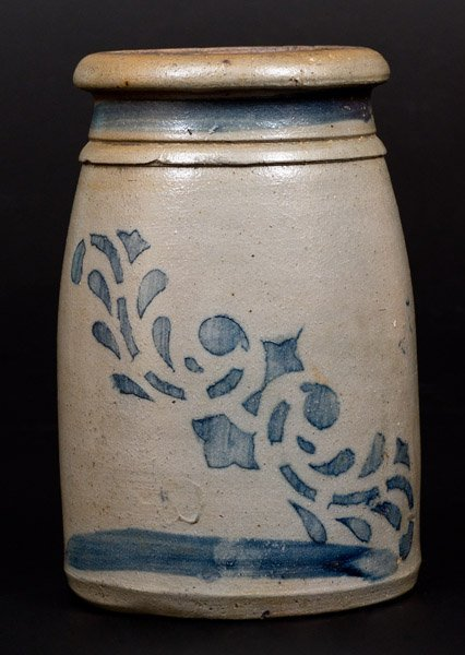 Western PA Stoneware Canning Jar with Stenciled