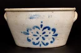 2 Gal F H COWDEN  HARRISBURG PA Stoneware Bowl w