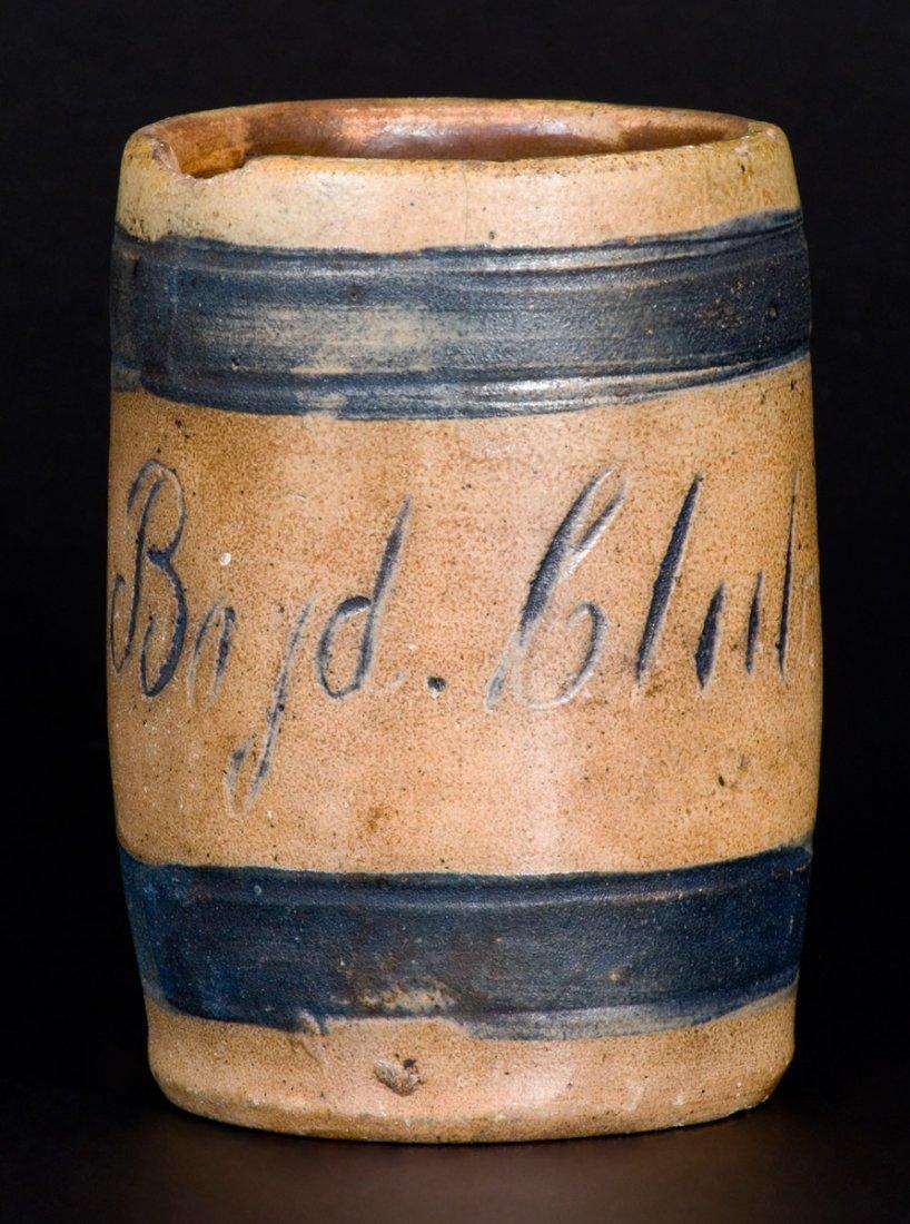 """""""Boyd Club"""" Stoneware Mug, attrib. Remmey, Philadelphia"""