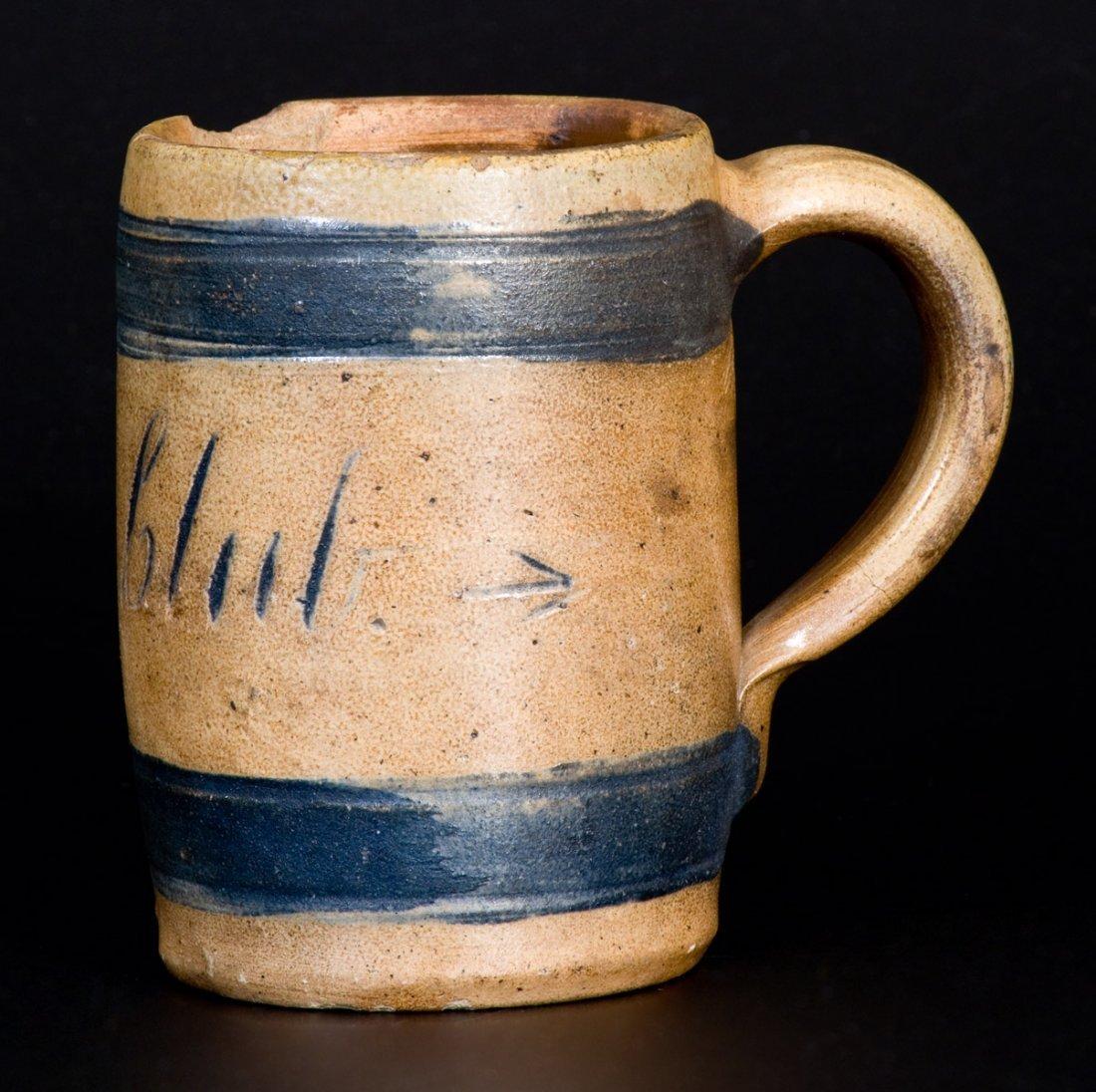 """""""Boyd Club"""" Stoneware Mug, attrib. Remmey, Philadelphia - 3"""