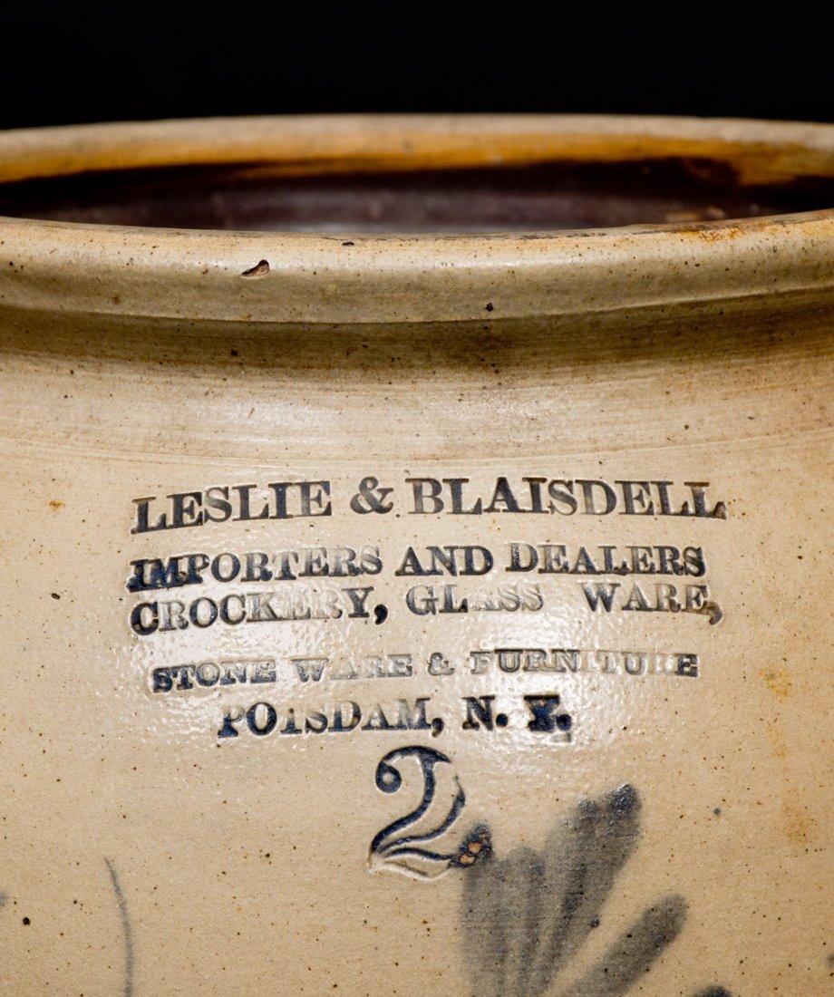 2 Gal. POTSDAM, NY Stoneware Jar with CROCKERY, GLASS - 2
