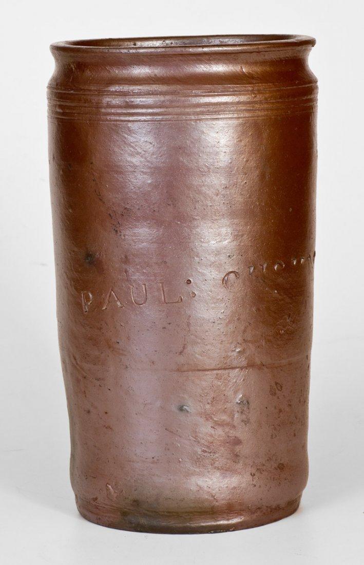 1 Gal.  PAUL CUSHMAN, Albany, NY Stoneware Jar, circa