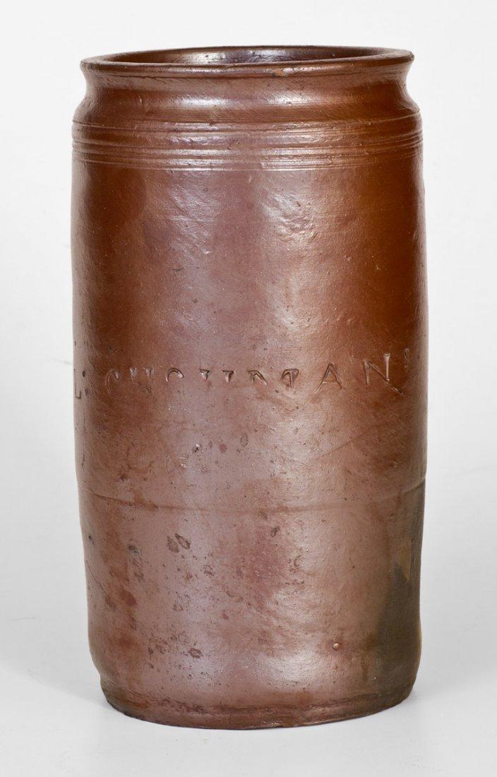 1 Gal.  PAUL CUSHMAN, Albany, NY Stoneware Jar, circa - 2