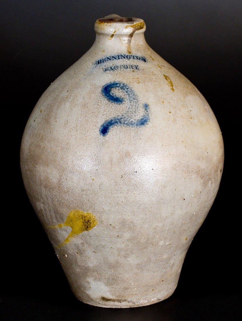 Rare 2 Gal. BENNINGTON FACTORY Stoneware Jug