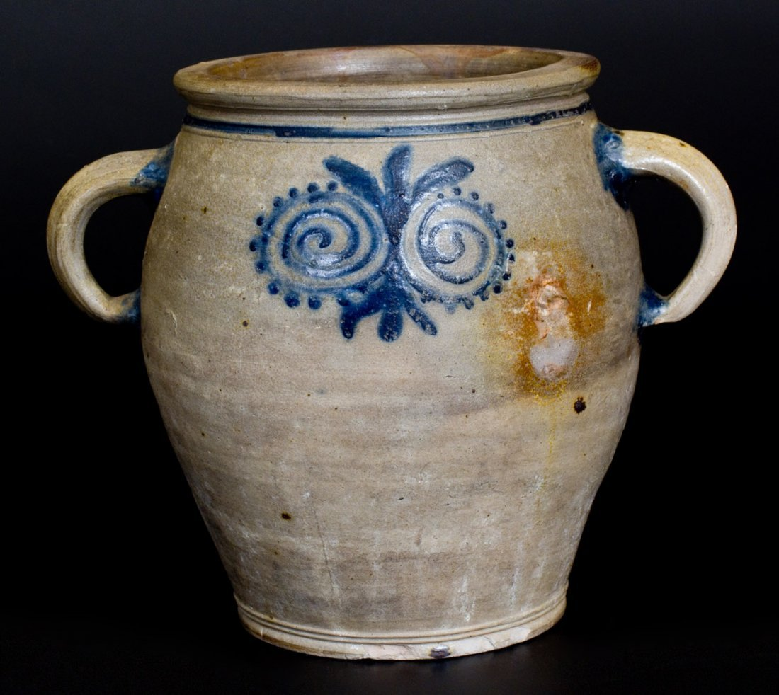 Stoneware Jar with Watchspring Decoration att. Abraham