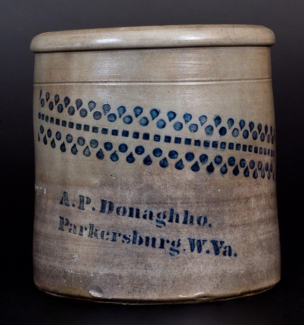 A. P. Donaghho / Parkersburg, W. Va. Stoneware Jar with