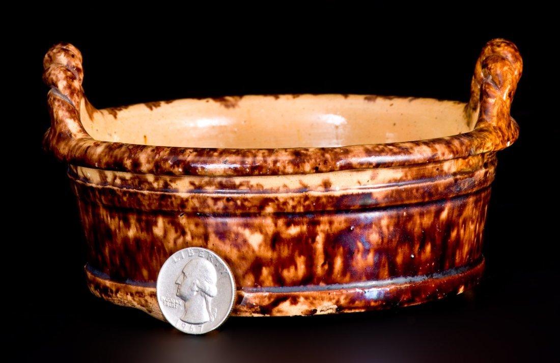 Fine Small-Sized JOHN BELL / WAYNESBORO Redware Butter