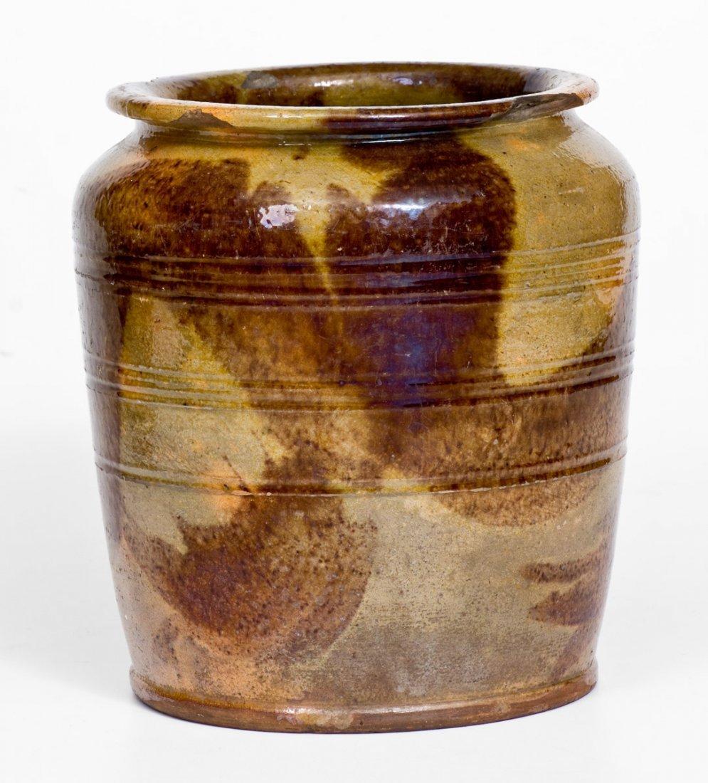 Redware Jar with Brushed Manganese Decoration - 2