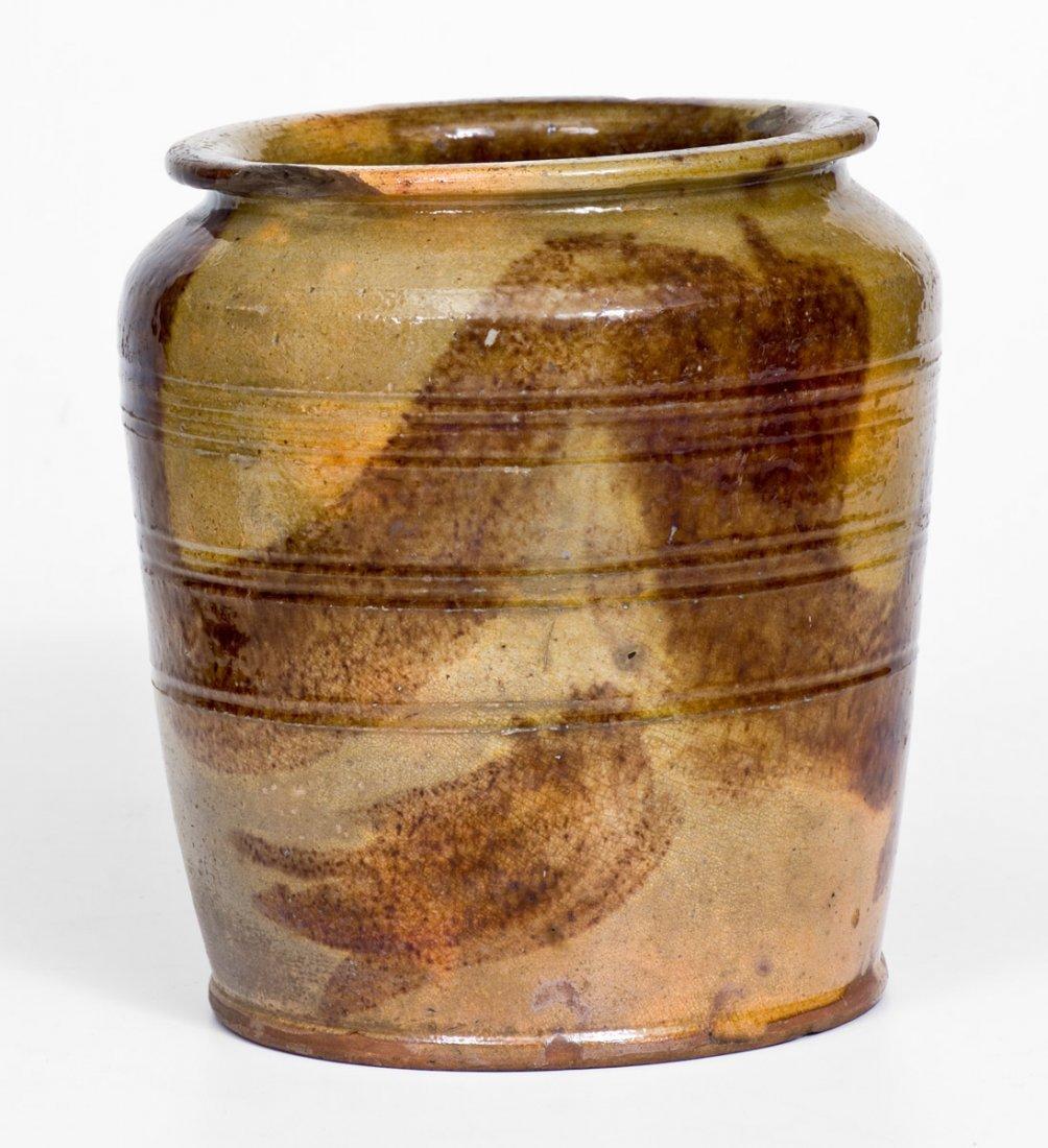 Redware Jar with Brushed Manganese Decoration - 3