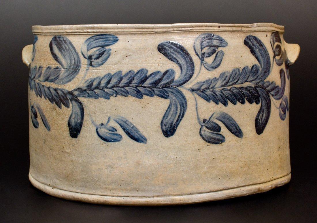 Monumental 4 Gal. Baltimore Stoneware Cake Crock w/