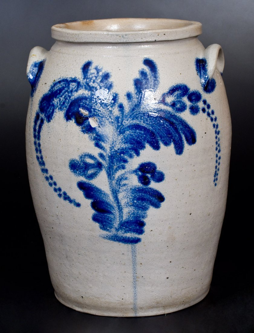 3 Gal. Stoneware Jar with Bold Cobalt Floral