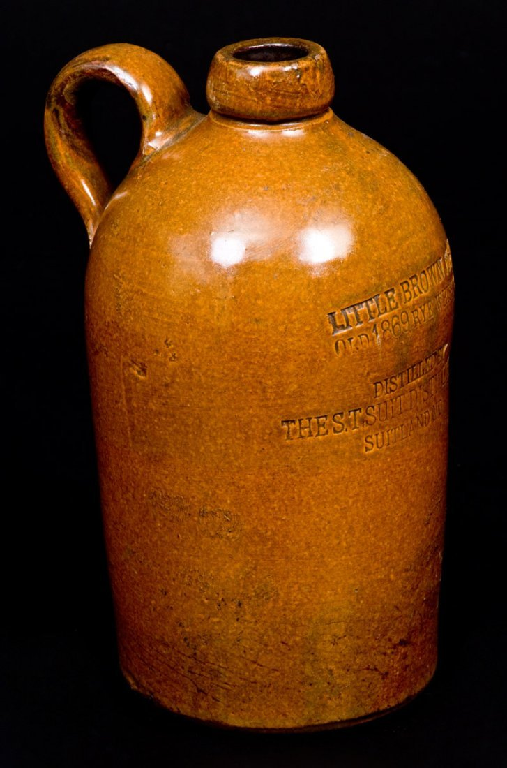 """SUITLAND, MD """"LITTLE BROWN JUG"""" Stoneware Advertising - 2"""