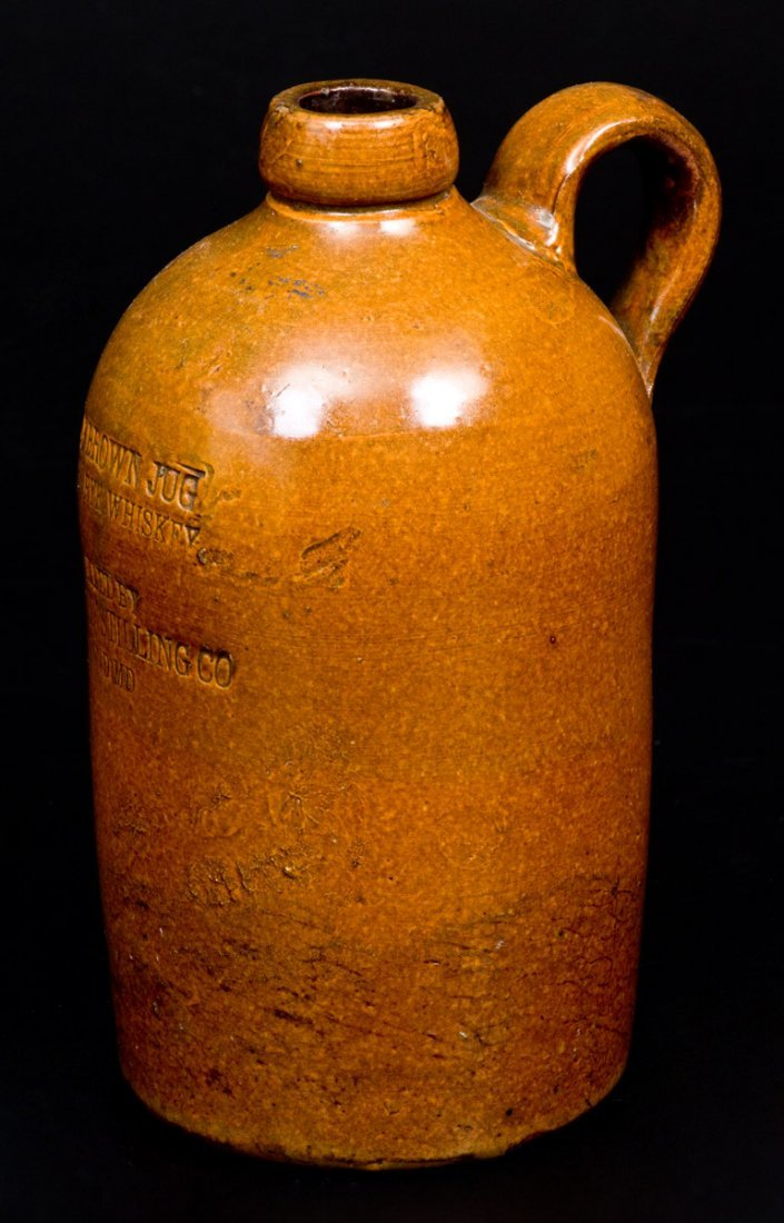 """SUITLAND, MD """"LITTLE BROWN JUG"""" Stoneware Advertising - 3"""