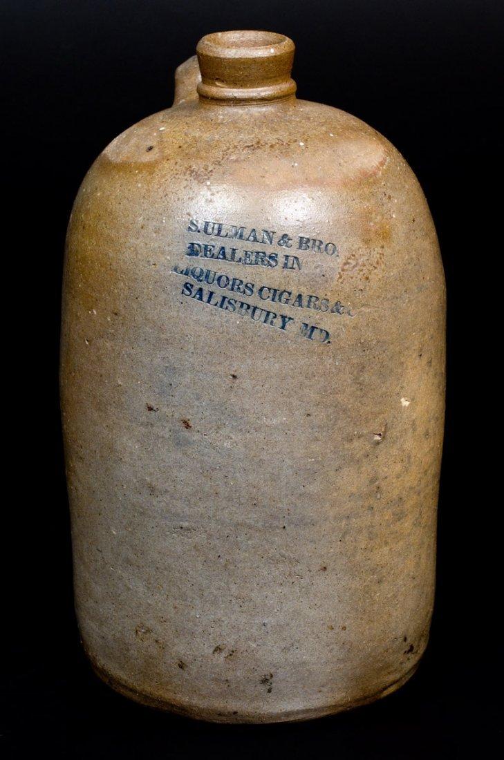 Baltimore Stoneware Jug with Impressed SALISBURY, MD