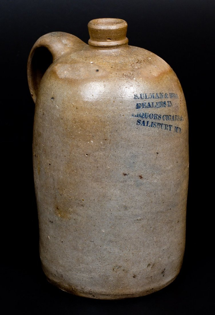 Baltimore Stoneware Jug with Impressed SALISBURY, MD - 2