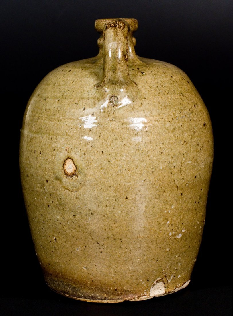 Fine 2 Gal. Edgefield District, SC Stoneware Jug - 4