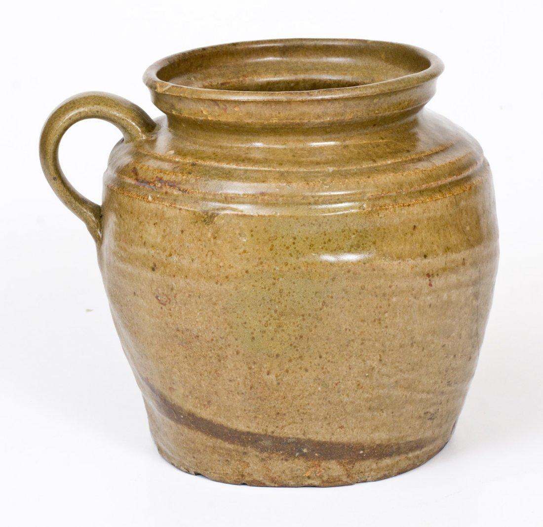 Unusual Alkaline-Glazed Stoneware Stew Pot att. Dave