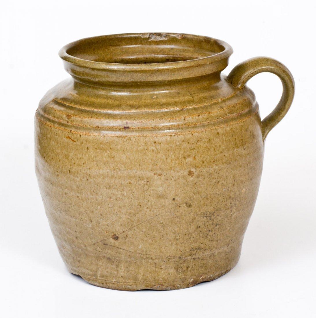 Unusual Alkaline-Glazed Stoneware Stew Pot att. Dave - 3