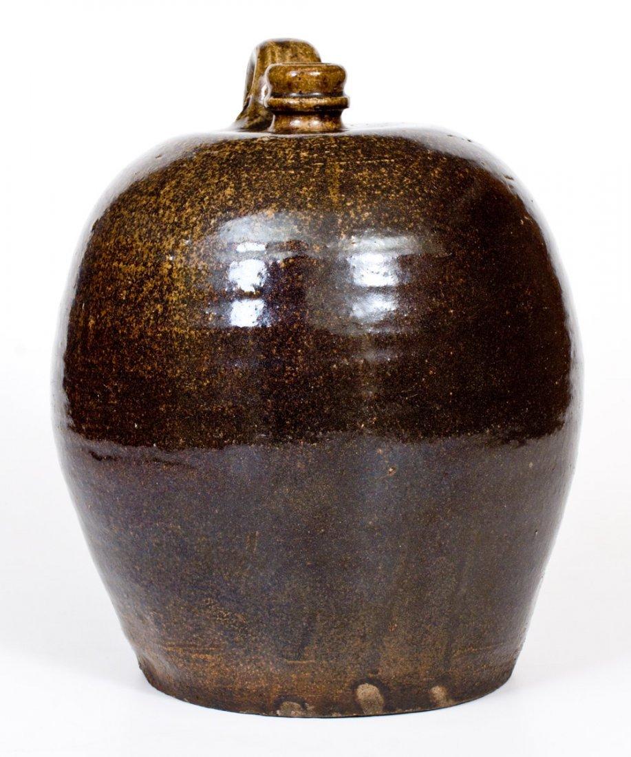 Alkaline-Glazed Stoneware Jug, Edgefield, SC, circa