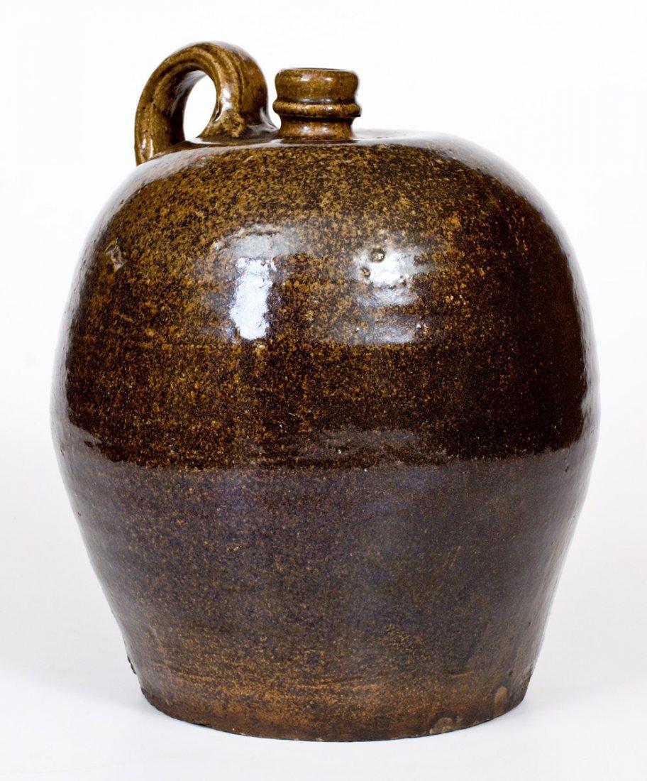 Alkaline-Glazed Stoneware Jug, Edgefield, SC, circa - 2