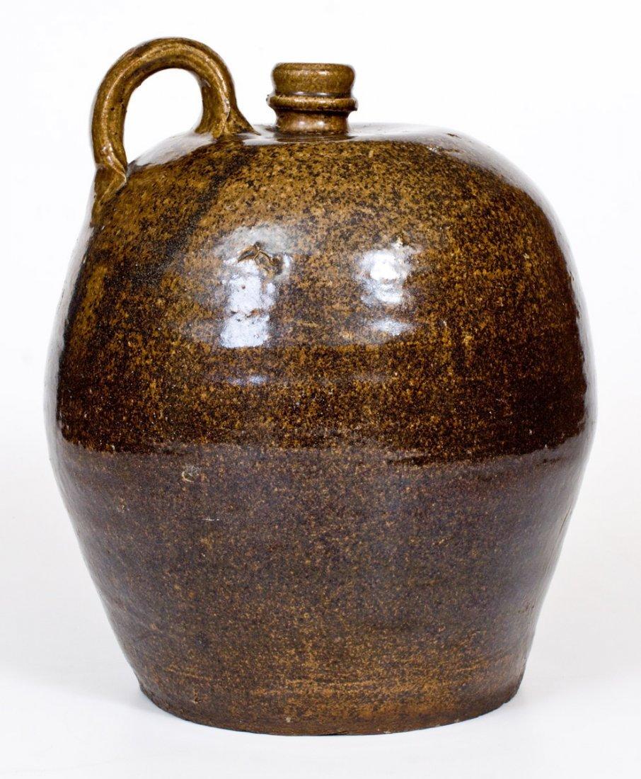 Alkaline-Glazed Stoneware Jug, Edgefield, SC, circa - 3