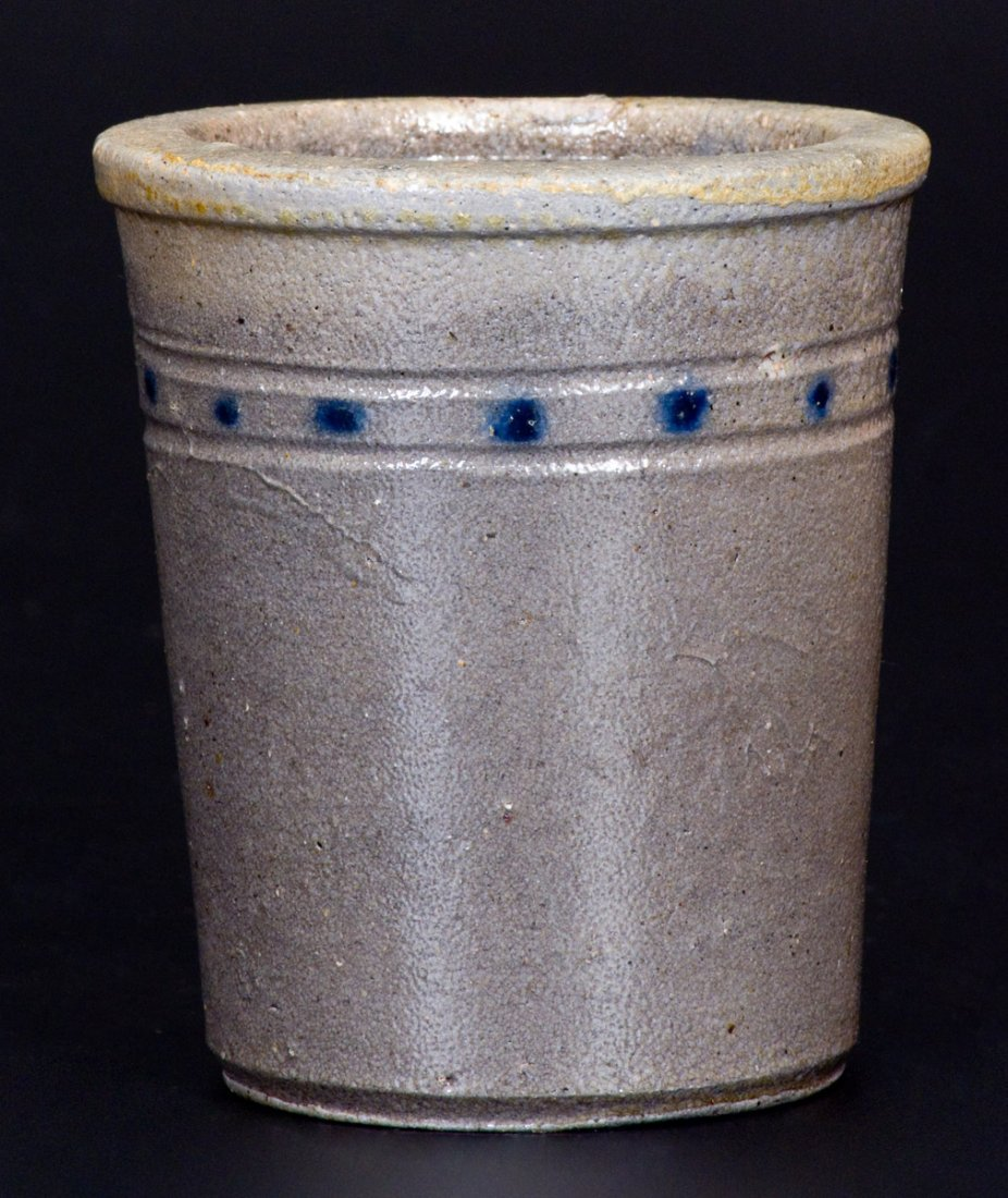 Extremely Rare Cobalt-Decorated Stoneware Tumbler, att. - 2