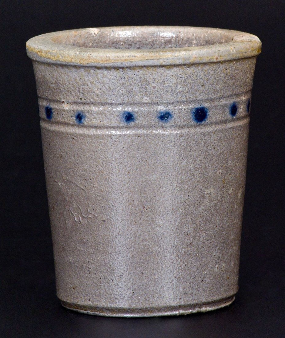 Extremely Rare Cobalt-Decorated Stoneware Tumbler, att. - 3
