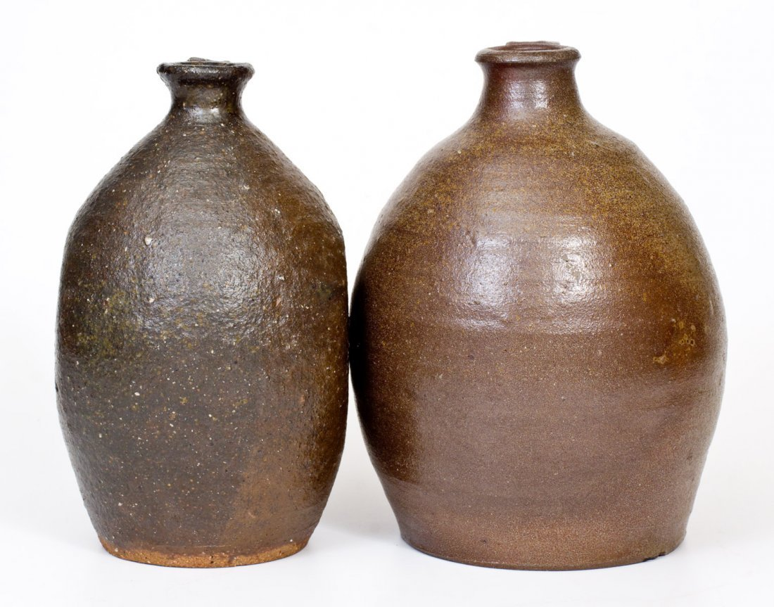 Lot of Two: Catawba Valley, NC Stoneware Jugs, probably - 2