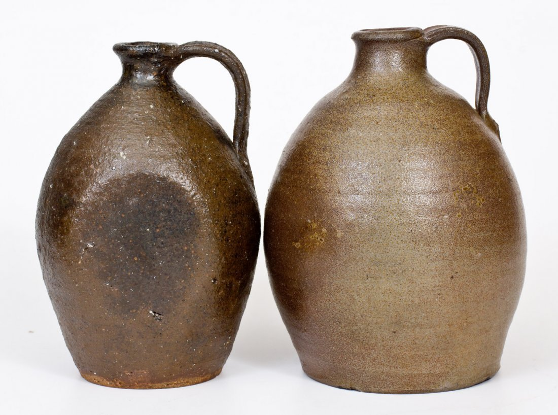 Lot of Two: Catawba Valley, NC Stoneware Jugs, probably - 3