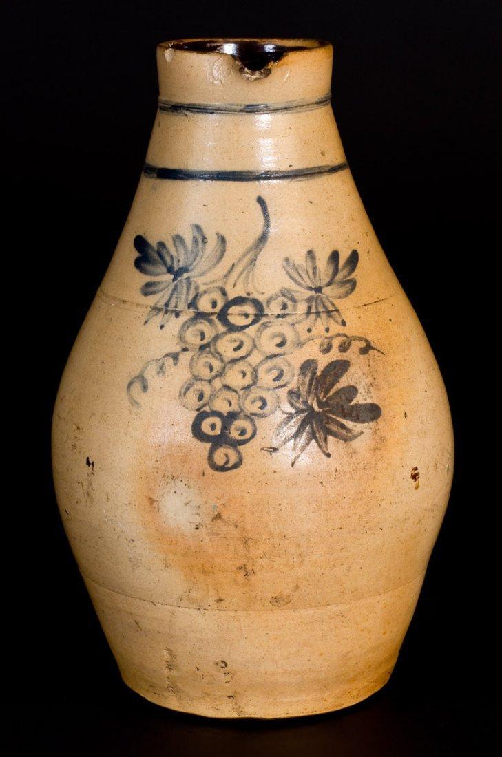 Rare Stoneware Pitcher w/ Detailed Grapes Decoration