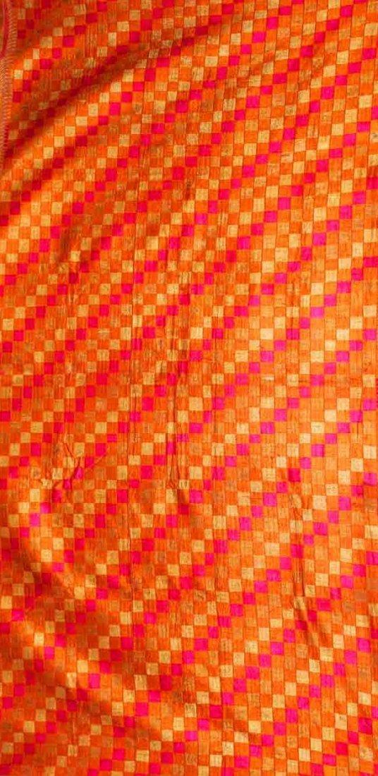 Vintage Bagh Phulkari Silk Embroidered Punjab Textile