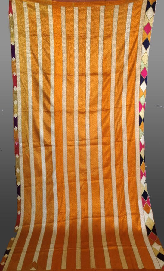 Antique Bagh Phulkari Indian Textile - Fine Embroidery