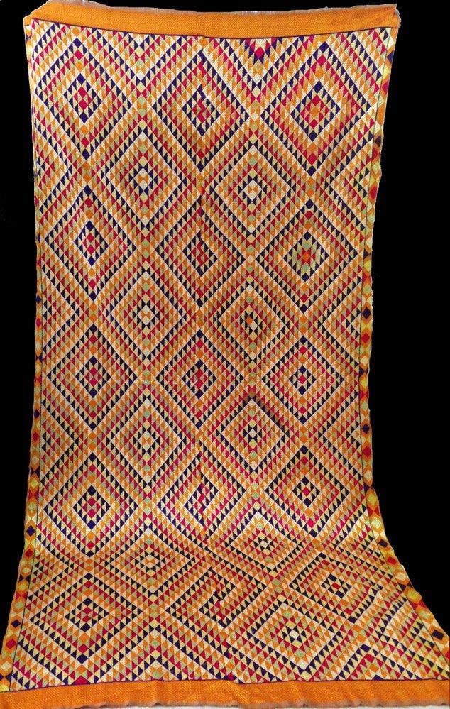 Rare Vintage 7 Colors Bagh Phulkari Indian Textile