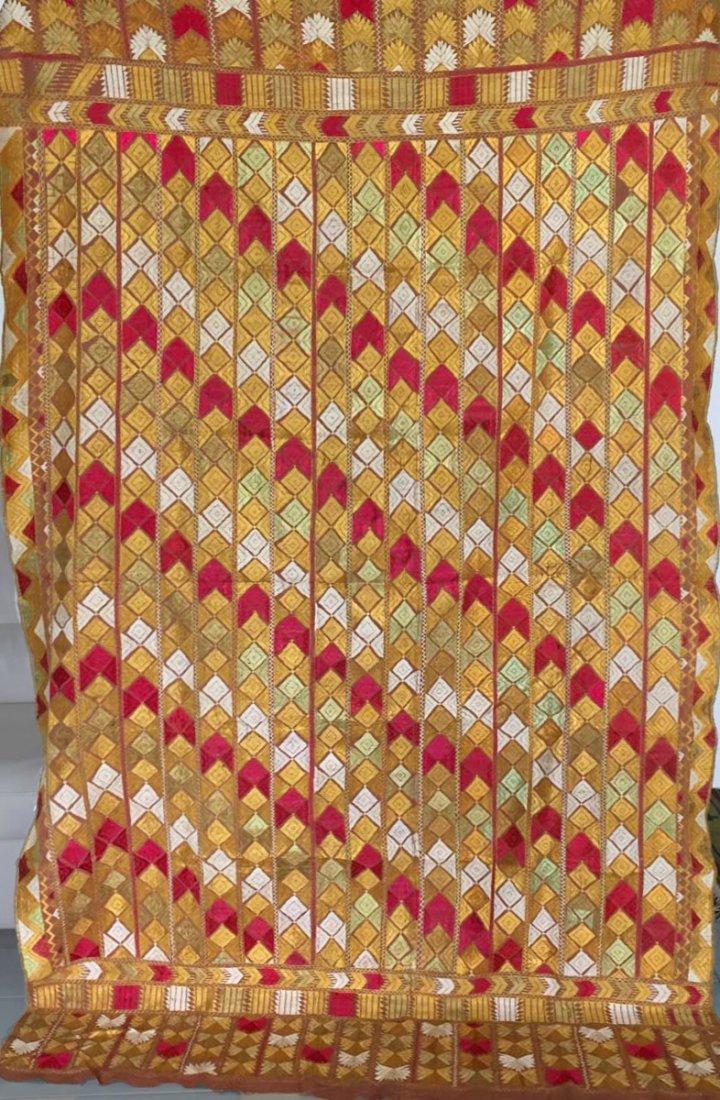 Antique Bagh Phulkari Punjabi Indian Textile Art