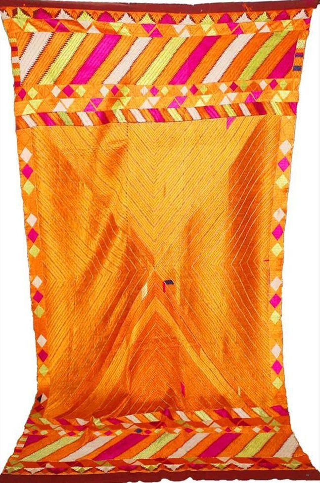 Varida Bagh Phulkari - Vintage Indian Wedding Textile