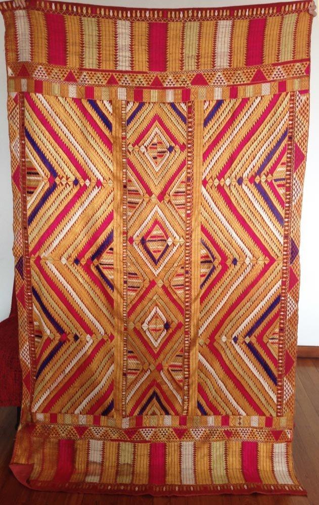 Vintage Bagh Phulkari Sikh or Hindu Wedding Textile